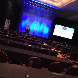 SCORRE™ Conference Backdrop designed and built by Matt Brady